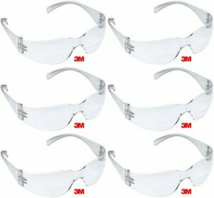 3m Virtua 1 5 Bifocal Clear Reader Safety Glasses Scratch Resistant 6 Pair