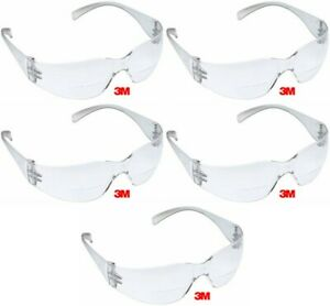 3m Virtua 2 0 Bifocal Clear Reader Safety Glasses Scratch Resistant 5 Pair