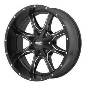 4 New 17x8 Moto Metal Mo970 Semi Gloss Black Milled Wheel Rim 6x120 17 8 Et0