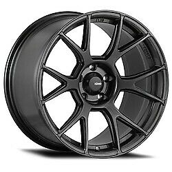 19x8 5 Konig 56mg Ampliform Dark Metallic Graphite Wheels 5x112 45 Set Of 4