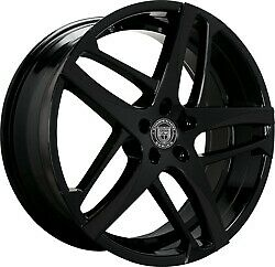 24x10 Lexani 668 Bavaria Gloss Black Wheels 6x5 5 30mm Set Of 4