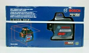 Bosch Gll3 300 360 Three plane Leveling And Alignment line Laser Brand New