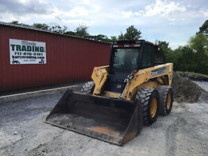2006 John Deere 332 Skid Steer Loader W Cab 2spd High Flow Only 1700 Hours