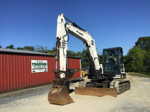 2014 Bobcat E85 Hydraulic Midi Excavator W Cab Thumb Super Clean Only 3500hrs