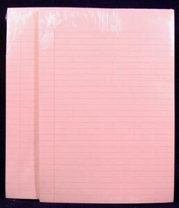 Two 2 Hallmark Write on Pink Lined 50 Page Notepads Tablets