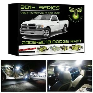 15 White Led Interior Lights Package Kit For 2009 2018 Ram 3014 Series Smd tool
