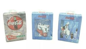 Lot of 3 Coca-Cola Playing Cards 1998 Polar Bear Sealed ~ Made In USA!