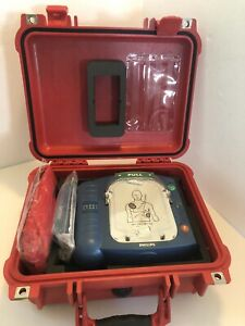 New Philips Heartstart Defibrillator M5066a Aed W Waterproof Pelican Hard Case