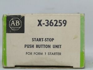 Allen Bradley Start stop Push Button Unit X 36259 x36259 Nib Free Shipping