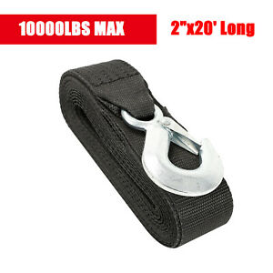 Deluxe Boat Trailer Replacement Winch Strap 10000lb 2 x20 With Snap Hook