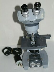 Ao Spencer Microscope W 3 Objectives 4 10 45 american Optical Good Condition