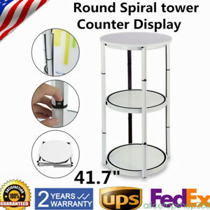 41 7 Round Spiral Tower Counter Display Case Sales Reps Exhibition Events Stand