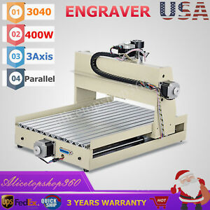 400w 3axis Cnc 3040 Router Engraver Wood Pcb Engraving Drilling Milling Machine