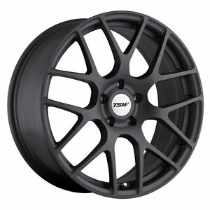 18x8 Tsw Nurburgring Matte Gunmetal Wheels 5x112 45mm Set Of 4