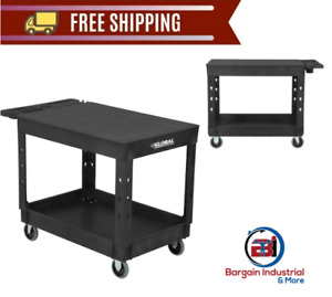 Plastic Shelf Utility Cart Durable Industrial Commercial Food Service Trolley