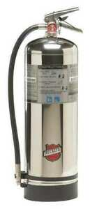 New Buckeye Water Fire Extinguisher With Schrader Valve empty