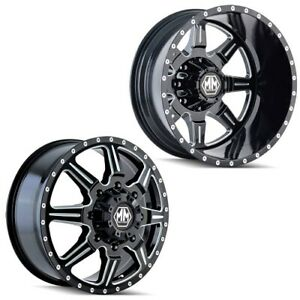 19 5x6 75 Mayhem 8101 Monstir 05 up Ford 19 up Dodge Dually Wheel 8x200 Set Of 6