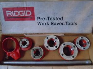 Rigid 12 r Drop Head Pipe Threader Set used One Die Once