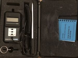 Alnor Tsi 9870 Digital Air Velocity And Temperature Meter W probe Free Shipping