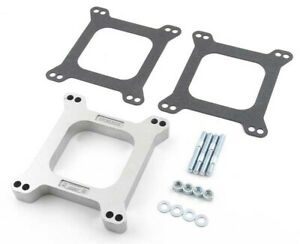 Mr Gasket 6005 Holley Edelbrock 1 Open Center Aluminum Carb Spacer Kit