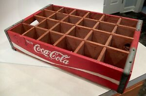 Coca-Cola 24 bottle vintage wood carrying crate