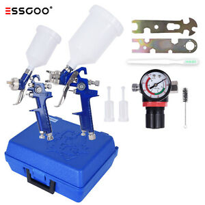 Essgoo 0 8mm 1 4mm Nozzle Hvlp Auto Paint Air Spray Gun Kit Multiple Spray