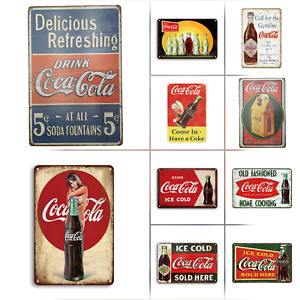 Coca Cola Advertising Vintage Retro Style Metal Tin Signs  10 Styles Available
