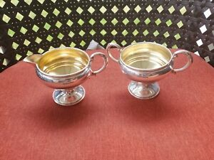 Vintag Sterling Silver Creamer Sugar Set Pre Owned For Scrap Or Use 200g E2