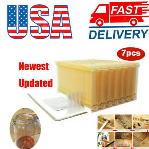 7 Pcs Auto Honey Beekeeping Beehive Frames Bee Comb Hive Frames For Beehive Box