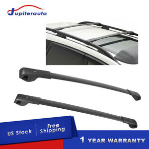 Set 2 Aluminum Black Cross Bar Roof Rack Cargo Carrier For 14 19 Subaru Forester