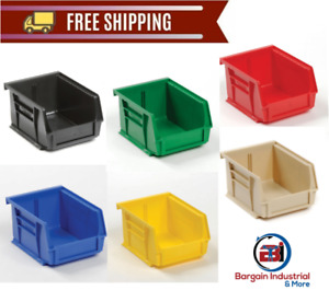 24 pack Plastic Storage Stacking Hanging Bin Stack Hang Parts Holder Organizer