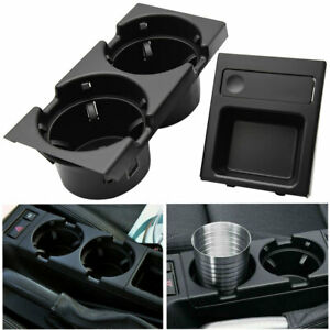 Double Hole Front Center Console Storage Box Coin Cup Drink Holder For Bmw E46