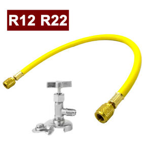 R12 r22 Can Tap Tapper Refrigerant Charging Recharge A c Car Tool Hose Valve Set