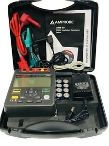 Amprobe Amb 50 Industrial High voltage Insulation Tester With Nist Certificate