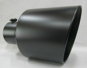 Flat Black Chevy Duramax bolt On Diesel Exhaust Tip 5 in 10 Out 15 l