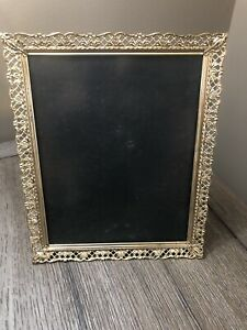 Vtg Gold Metal Picture Frame 8 X 10 Photo Ornate Victorian Style Filigree