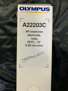 Olympus A22203c Hf resection Electrode Loop 28fr 12 0 35 Wire Box 12 Units
