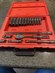 New Snap On Sealed 206afsp 3 8 Drive Set With Case And 212sfsmy Set