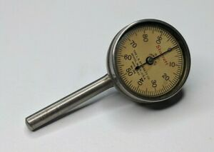 Starrett No 196 Dial Indicator 001 Jeweled Usa Vintage Plunger Back