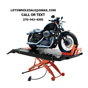 Titan 1 000 Lbs Xlt Motorcycle Lift Front Wheel Vise Front Side Extensions