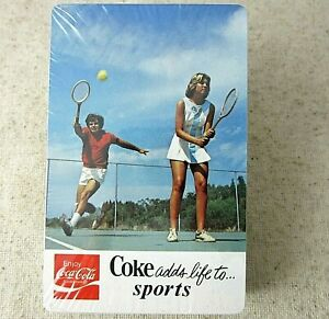 Vintage Coca Cola Playing Cards Coke Adds Life to Sports New Unopened 1975 USA