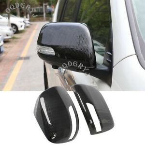 For Toyota Prado Fj150 2010 2020 Carbon Fiber Rear View Side Mirror Cover Trim