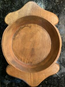 Large Dough Bowl Bread Trencher Wooden Wood Rustic Primitive India Carved