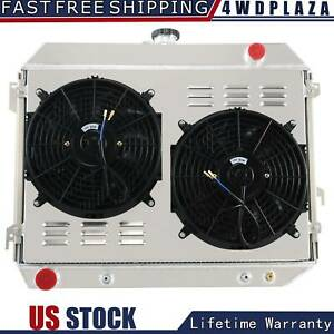 3 Row Radiator shroud fan For 68 73 Plymouth Road Runner satellite charger 26