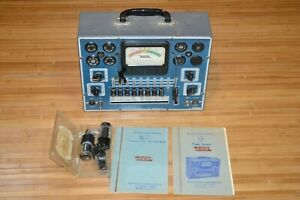 Eico 625 Tube Tester Powers On Ham Magnavox Tubes Manuals 625 And 221 Untested