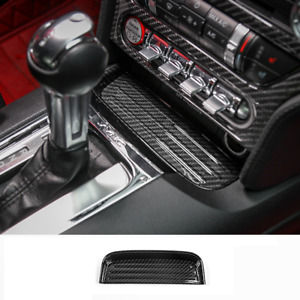 Carbon Fiber Interior Center Change Coin Tray Box For Ford Mustang 2015 2020