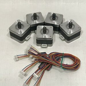 5 Pcs Nema 17 Stepper Motor Kit 12v Cnc 3d Printer Extruder Surplus Deal Lot