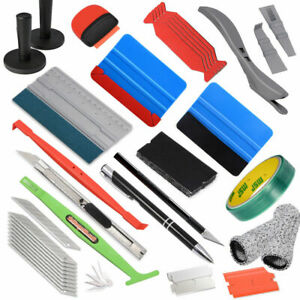 Car Wrapping Vinyl Tools Felt Squeegee Scraper 2 Magnets Graphic Knifeless Tape