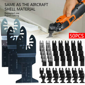 50 Pack Oscillating Multi Tool Saw Blades Carbon Steel Cutter Light Equipment