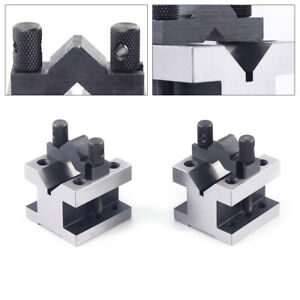 Cast Iron Vee Blocks Matched Pair W Clamp V Block Premium Workholding Equipment
